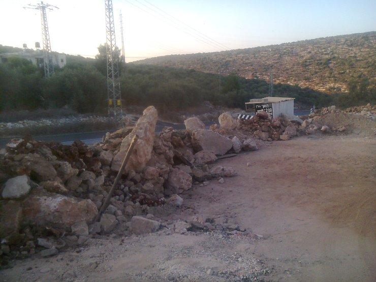 חסימת כביש היציאה מדיר איסתיא
