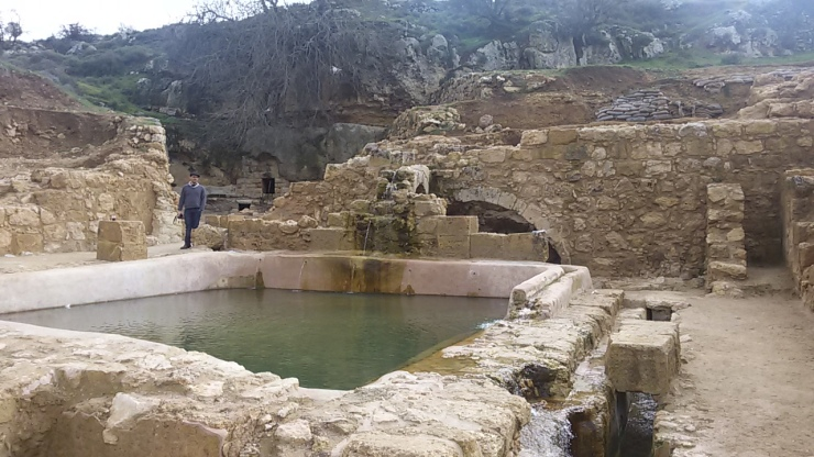 בריכה נוספת ושרידי מבנים עתיקים שרשות העתיקות חשפה בעין חניה