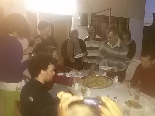 ארוחת ערב ברטריט בדיר איסתיא בשנה שעברה