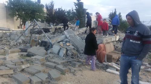 אחד הבתים שישראל הרסה בולאג'ה באפריל